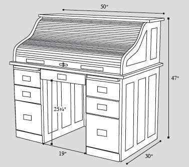 amish-rolltop-desk-dimensions