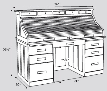 amish-roll-top-desk-dimensions