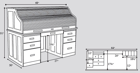 amish-rolltop-desk-dimensions-drawing