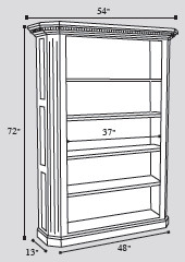 solid-wood-executive-bookcase-drawing