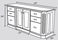solid-wood-credenza-drawing