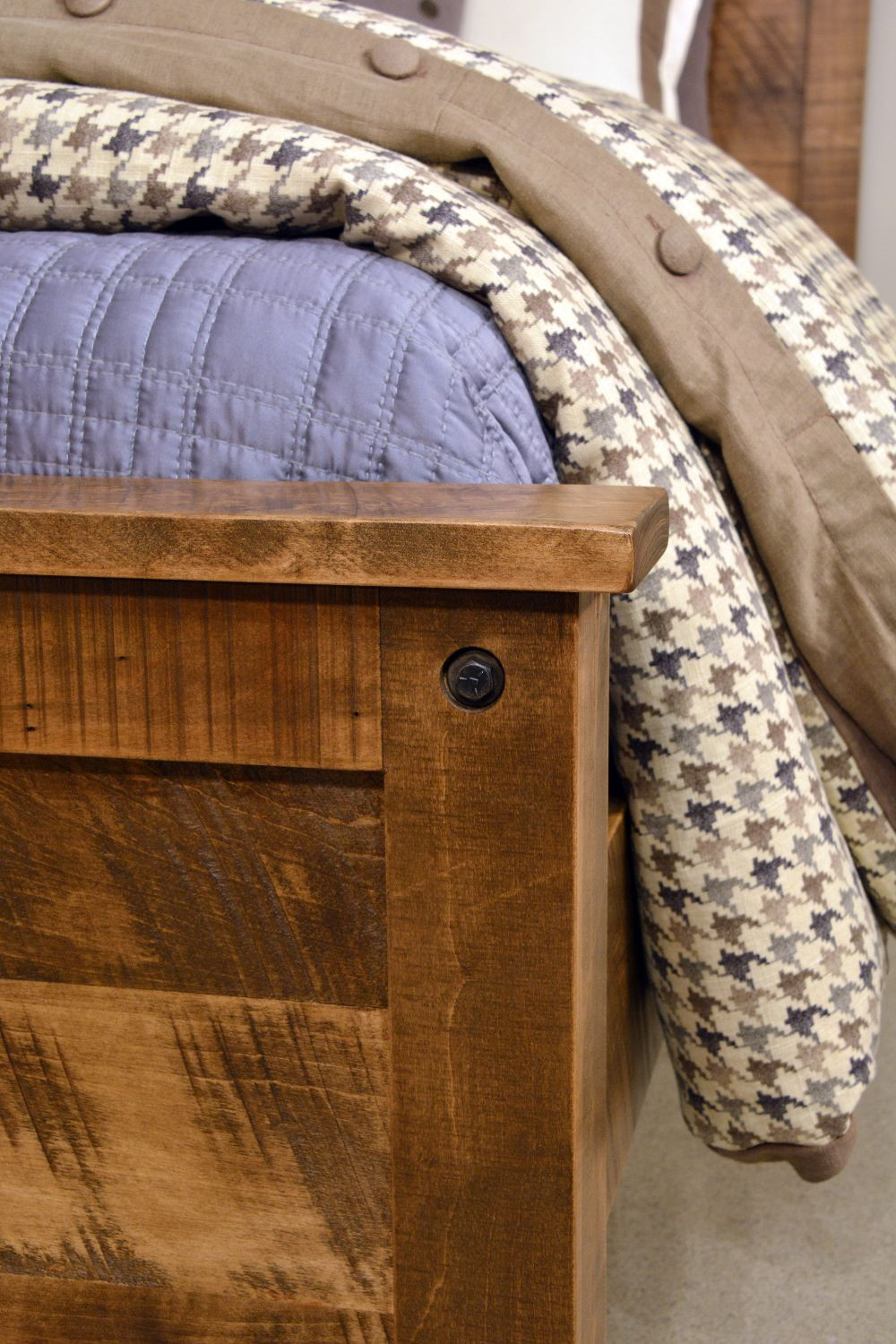 Ruff Sawn Adirondack Bed Free Delivery