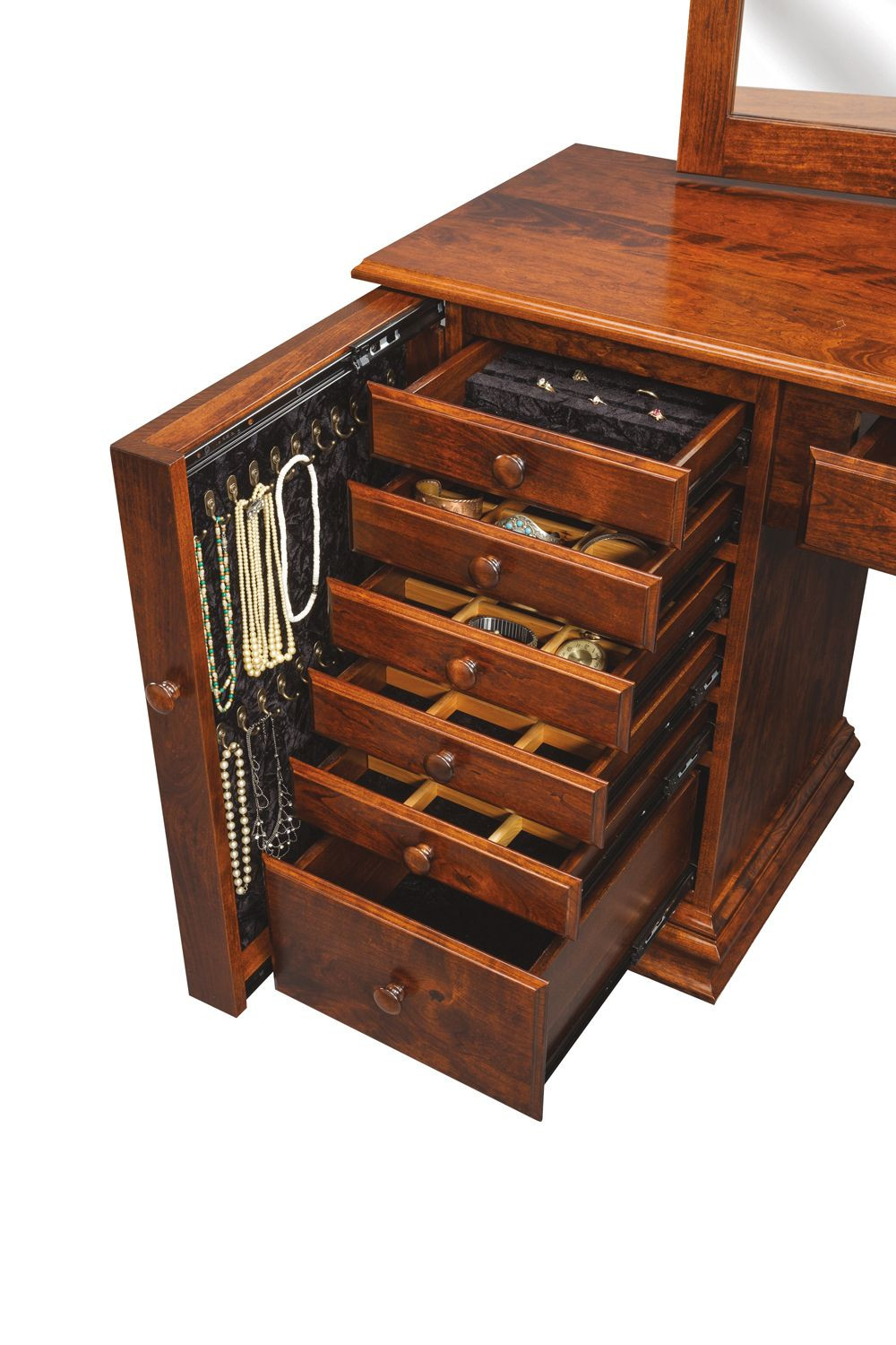 solid-wood-clock-base-jewelry-armoire