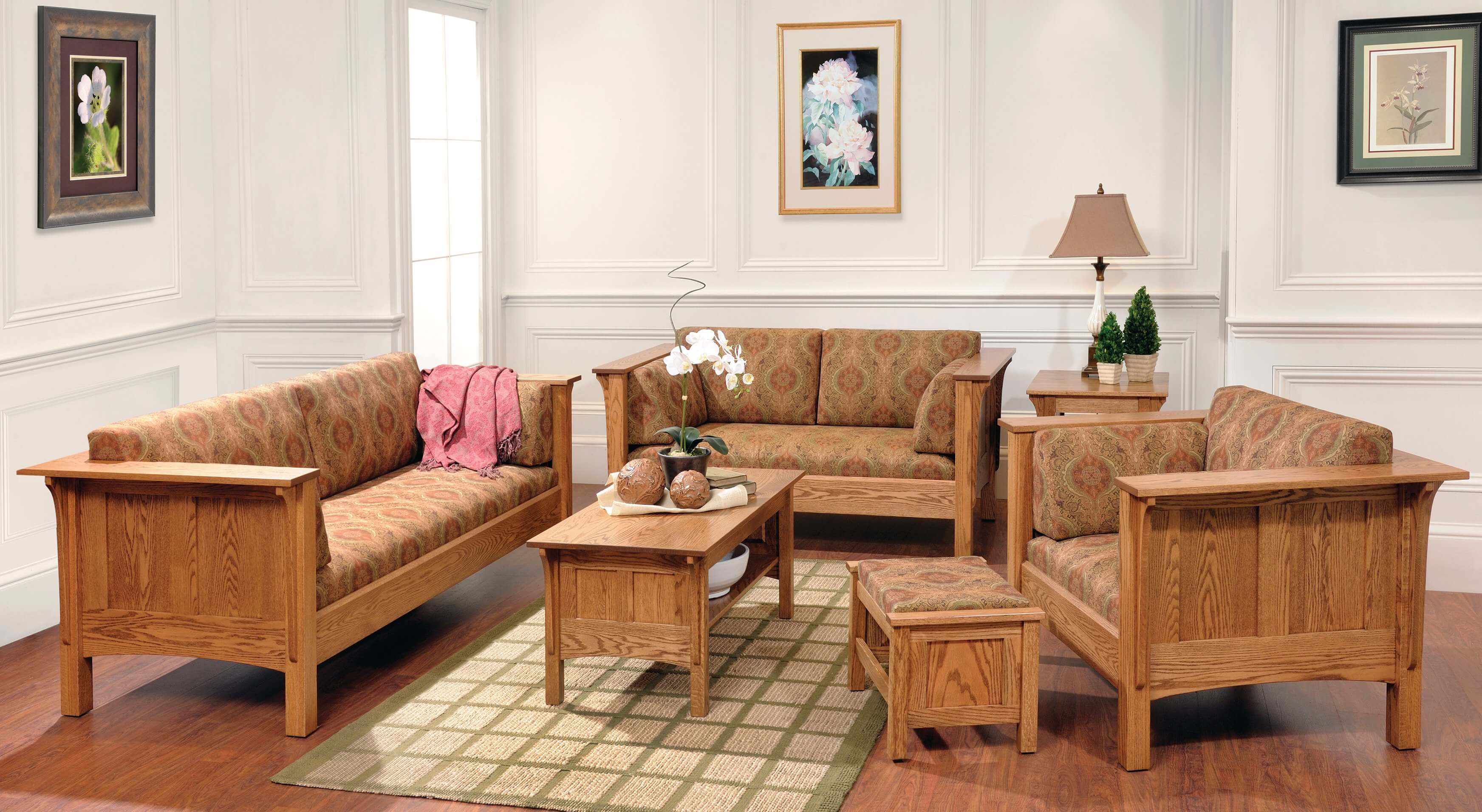 Solid Wood Amish Living Room Furniture