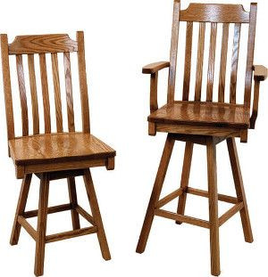 Solid Wood Bar Stools and Pub Chairs