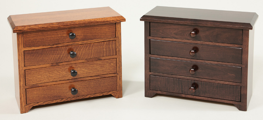 Solid Wood Dresser Top Jewelry Chests and Boxes
