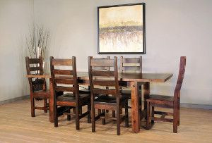 Ruff Sawn Beam Dining Furniture Collection