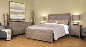 Ruff Sawn Meta Sequoia Bedroom Collection