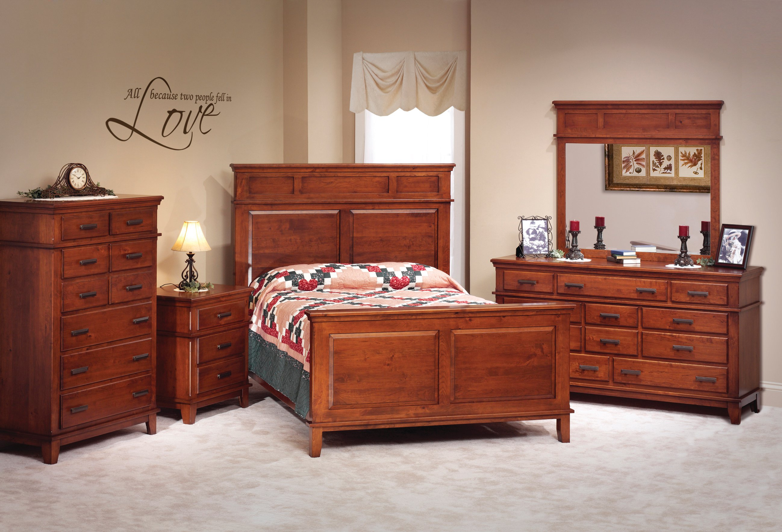 Shaker Bedroom Furniture Handcrafted Solid Wood Amish Bedroom Furniture Collections