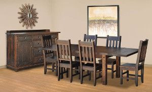 Ruff Sawn Muskoka Dining Collection
