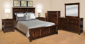 Ruff Sawn Rustic Algonquin Bedroom Collection