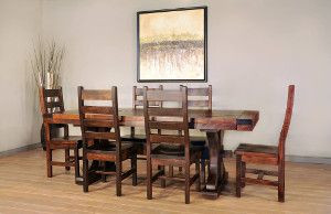 Ruff Sawn Rustic Carlisle Dining Collection