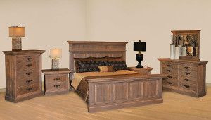 Ruff Sawn Rustic Phillipe Bedroom Collection