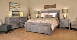 Ruff Sawn Sequoia Bedroom Collection