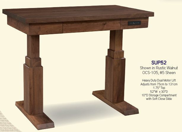 Solid Wood Sit Stand Desks