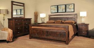 Ruff Sawn Timber Bedroom Collection
