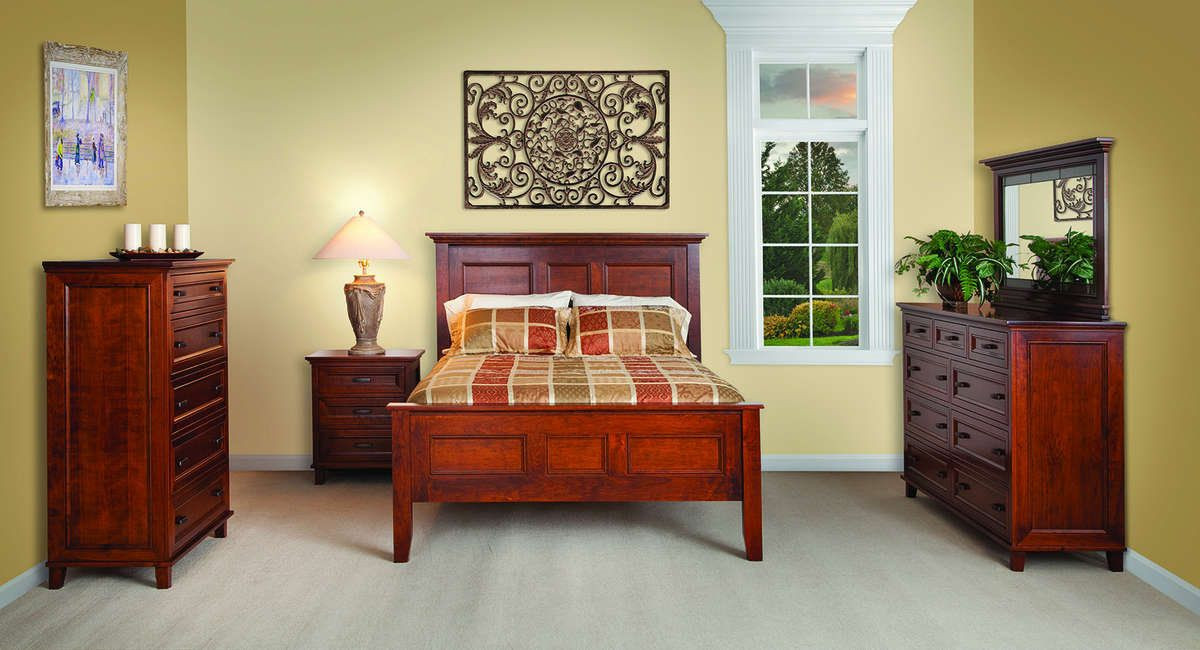 Solid Wood Amish Bedroom Furniture Free Delivery