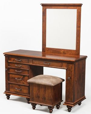 Amish Bedroom Vanities and Dressing Tables