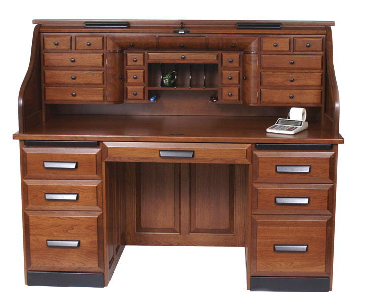 Solid Wood Roll Top Desks
