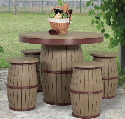 Poly Barrel Patio Furniture