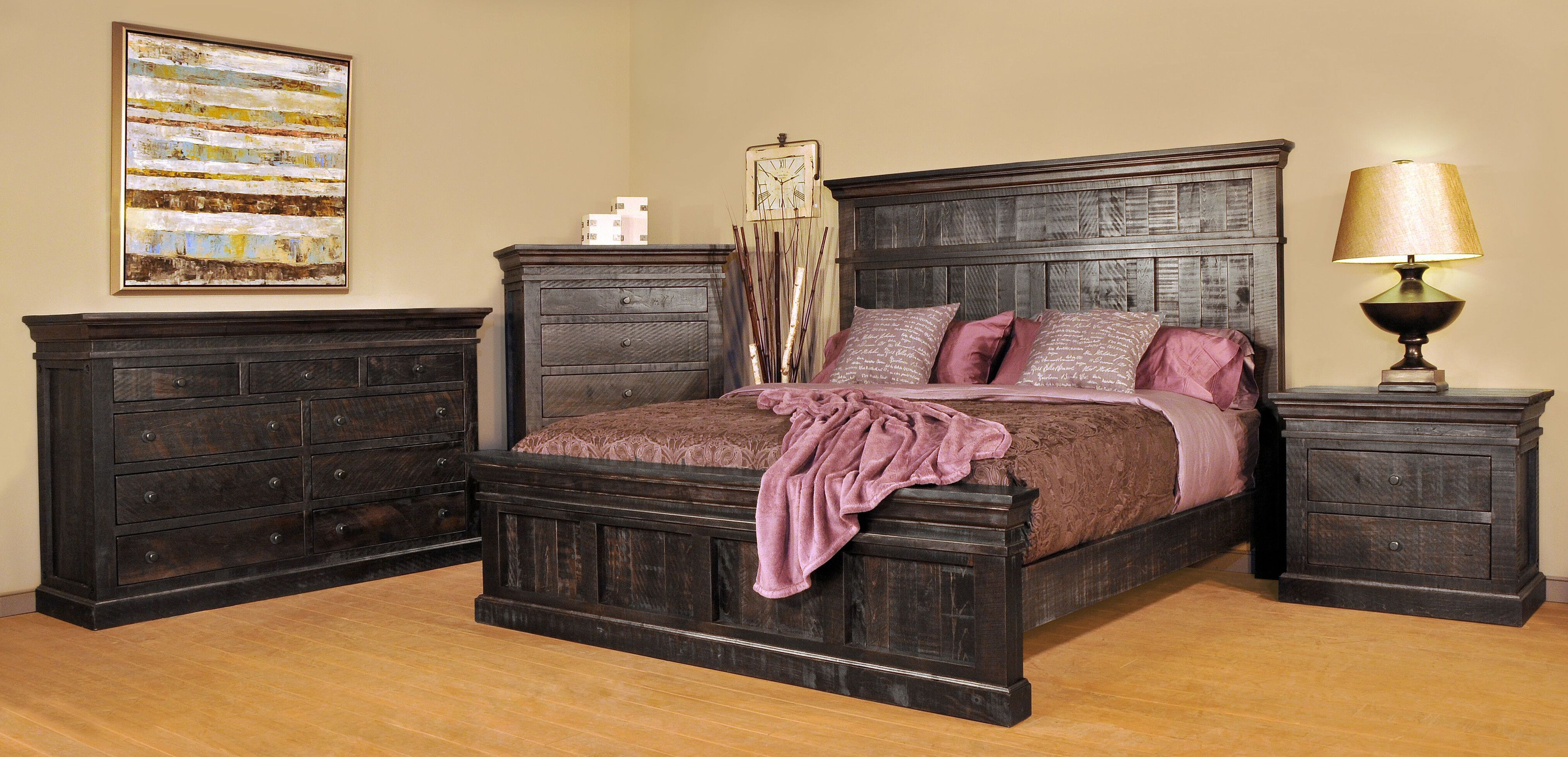 Ruff Sawn Keatsway Bedroom Furniture Collection