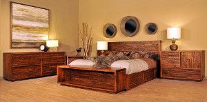 Ruff Sawn Ledgerock Bedroom Collection