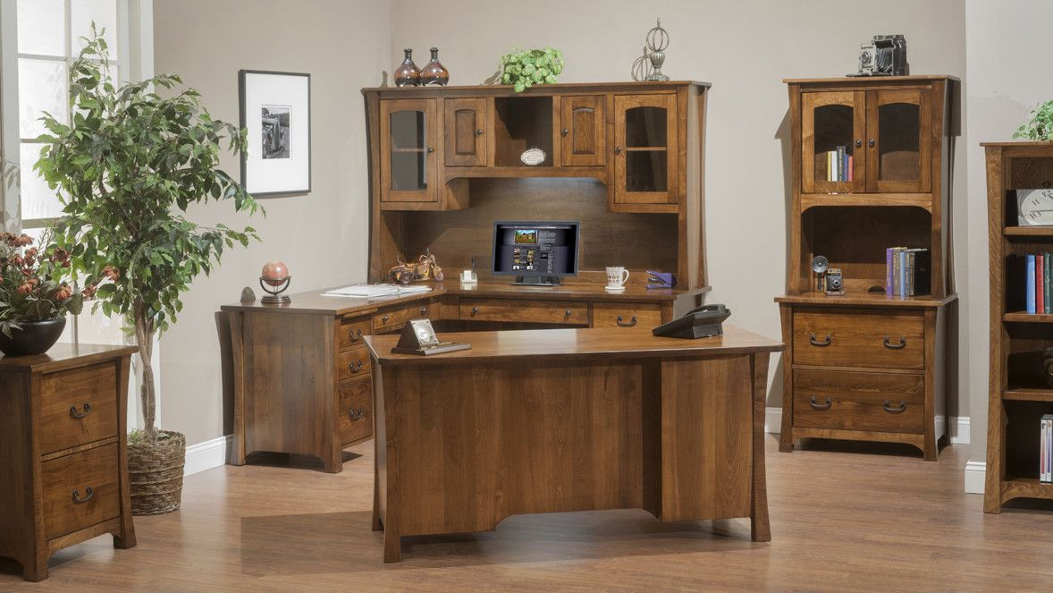 Woodbury Solid Wood Office Furniture Collection