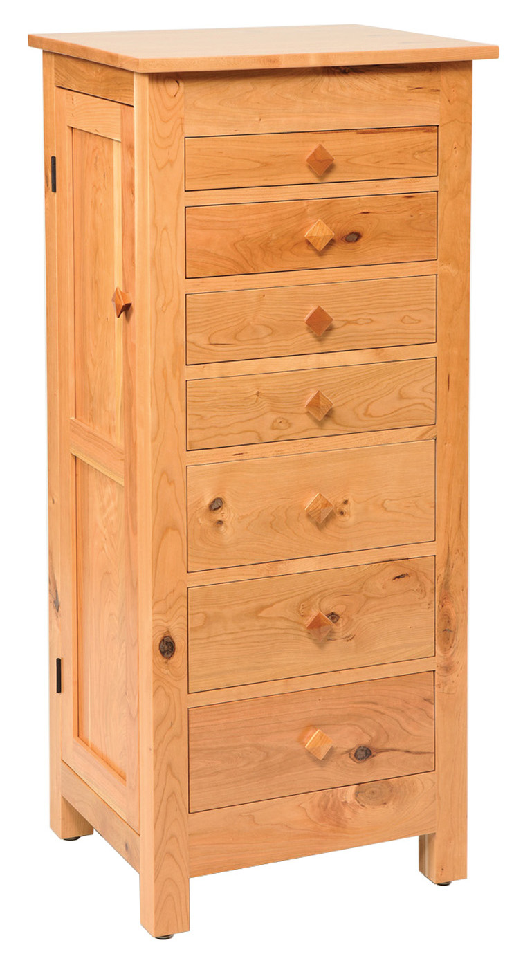 Flush Mission Jewelry Armoire Rustic Cherry