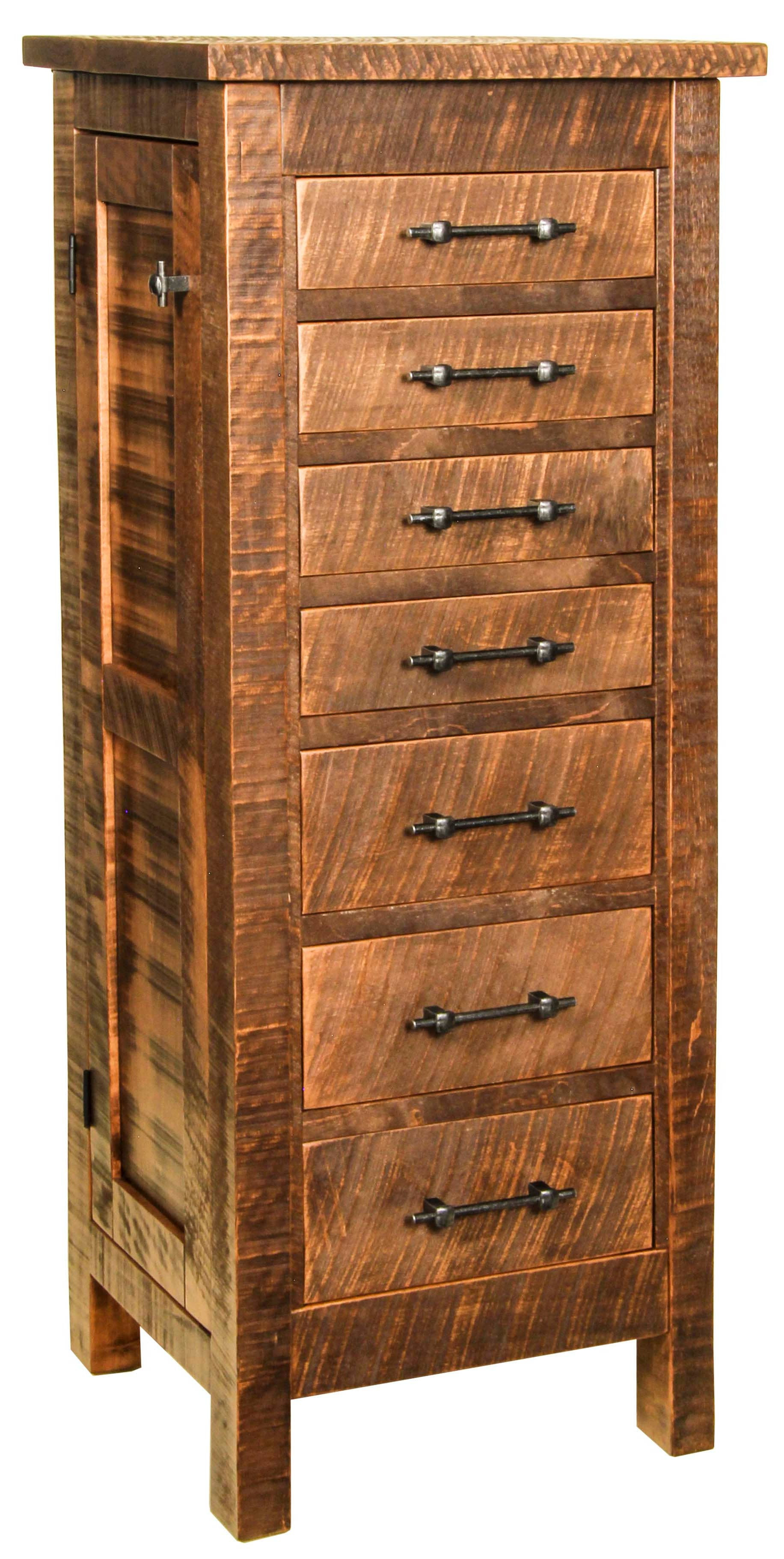 Alpine Rough Sawn Jewelry Armoire - Free Delivery