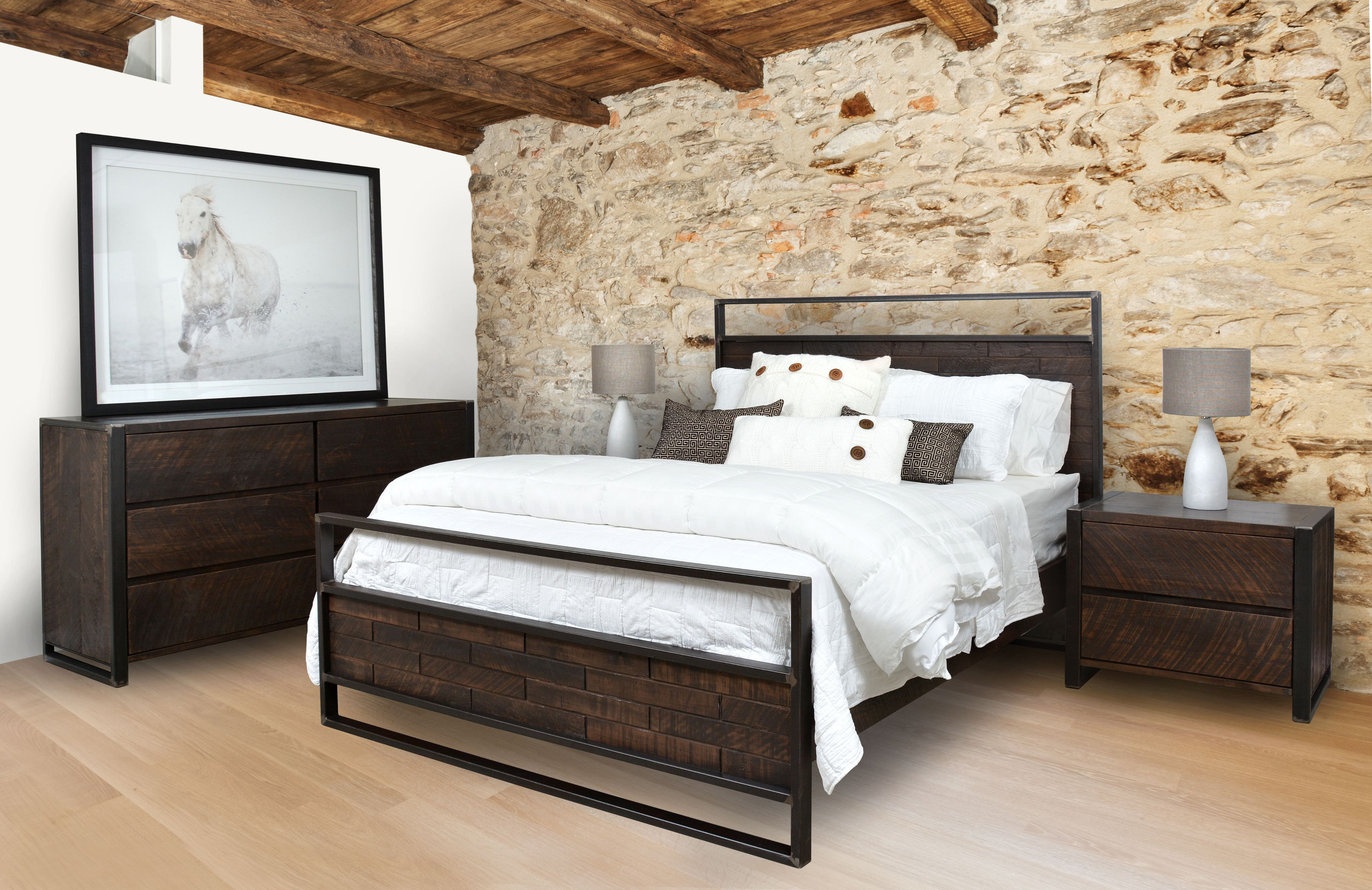 Ruff Sawn Carson Bedroom Set Free Delivery