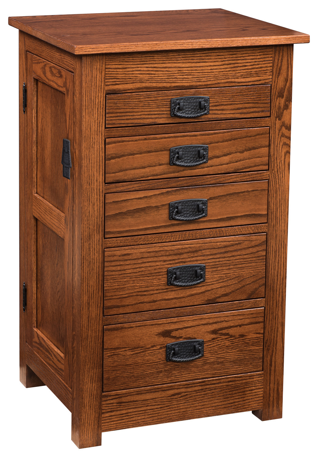 35 in. Flush Mission Jewelry Armoire - Solid Wood