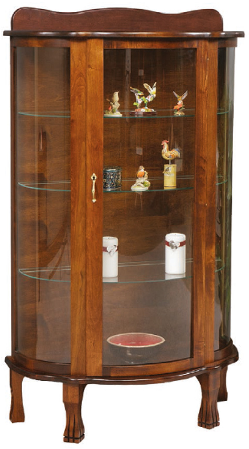 Amish Curio Cabinet. Wood / Stain