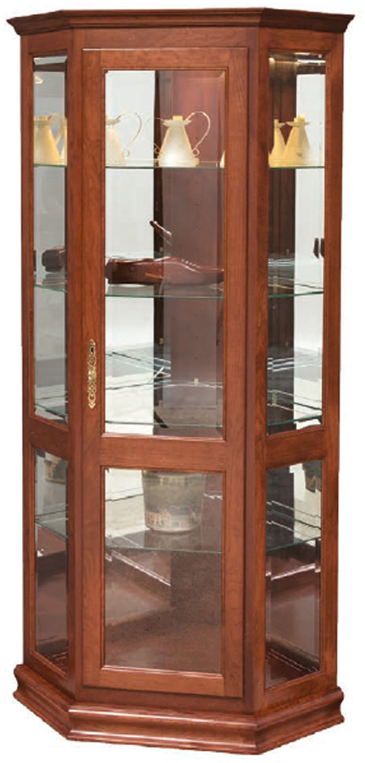 Deluxe Corner Solid Wood Curio Cabinet Free Delivery