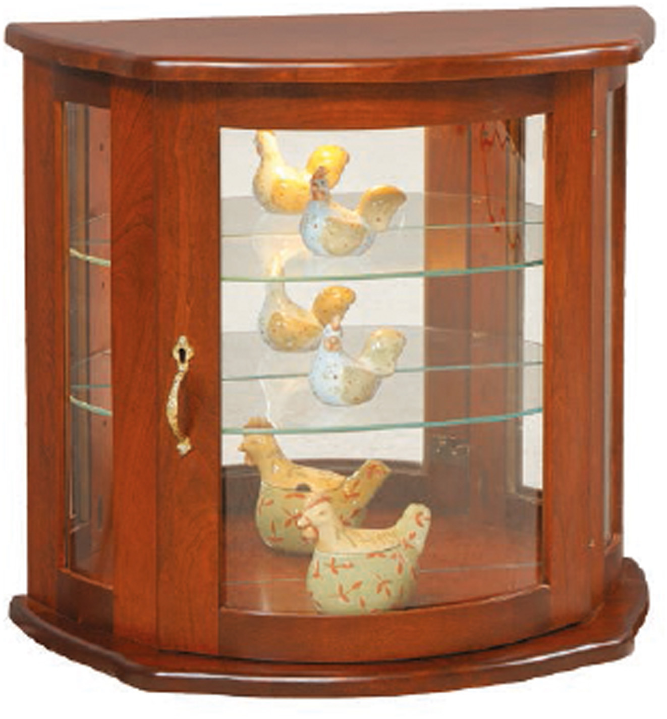 Flat Wall Hanging Curio Cabinet