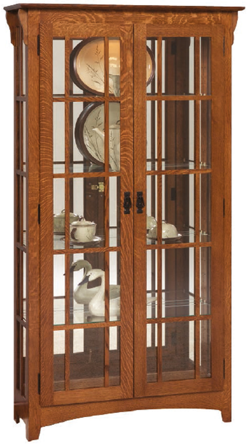 Mission Double Door Curio Cabinet Amish