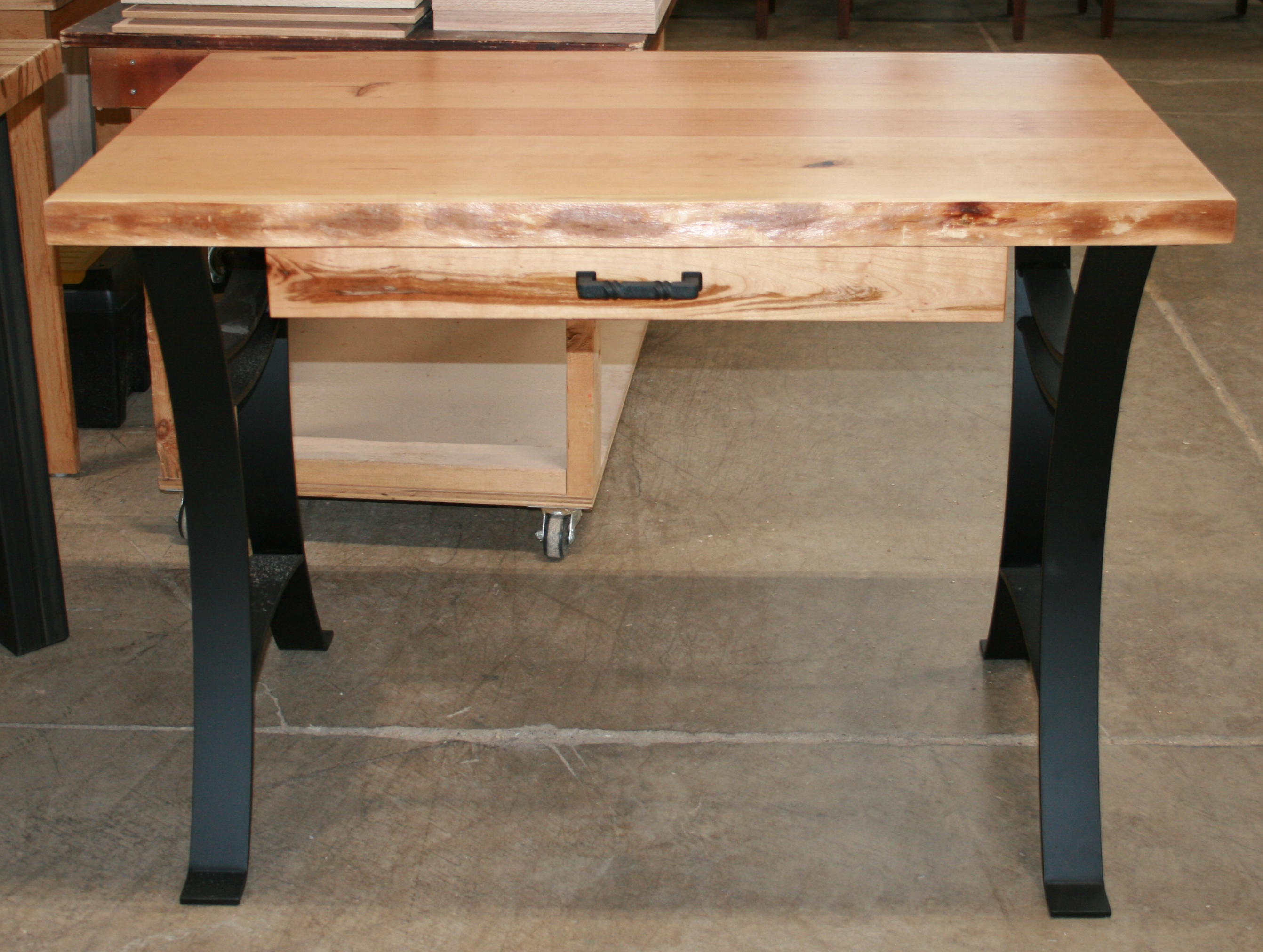 Rustic Cherry Live Edge Writing Desk