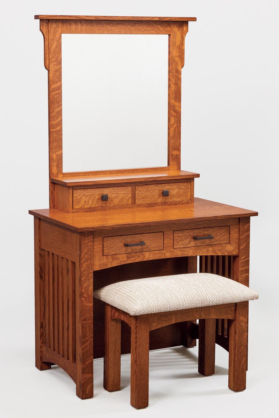 small mission amish bedroom vanity