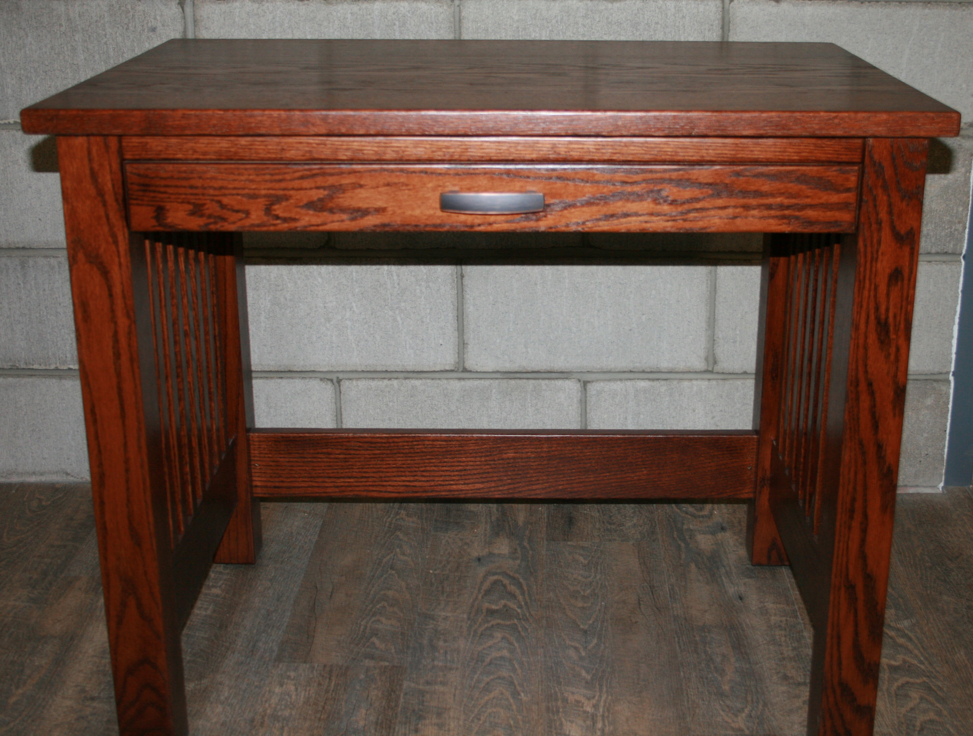 Small Solid Wood Sit Stand Writing Desk