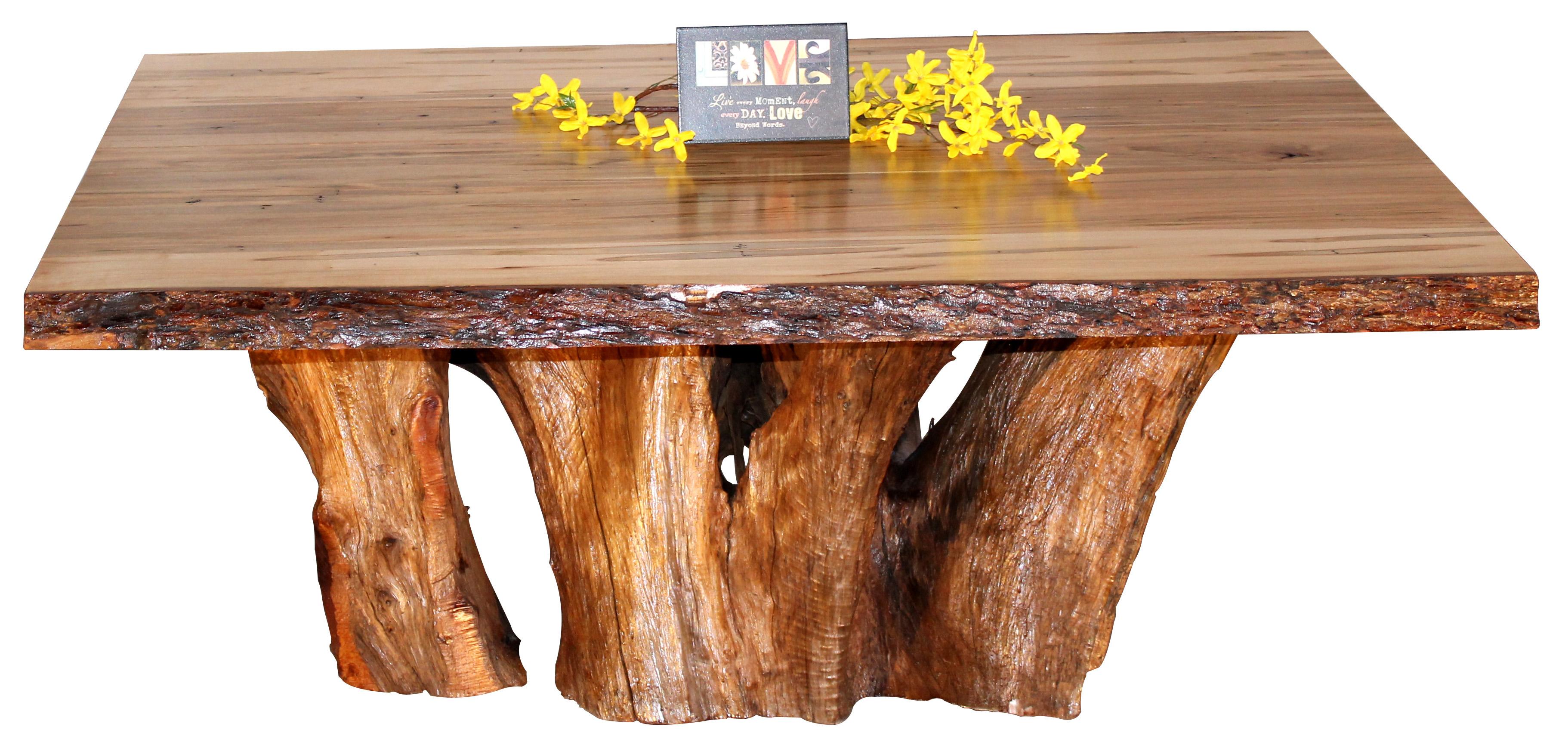 Ambrosia Maple Coffee Table With Cedar Stump Base