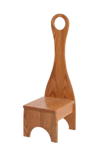 Wooden Step Stool Bedside: Solid Wood Step Stool With Handle