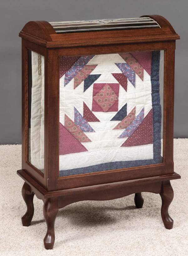 Medium Quilt Display Case Solid Wood Free Delivery