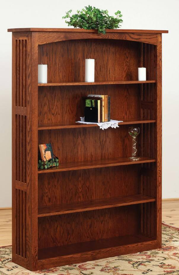 home solid mission shelf garden overstock shipping today bookcase wood product free style