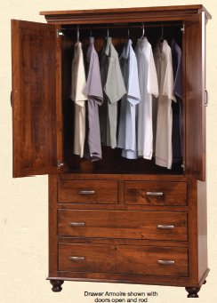 Available With Shelves Or Rod For Hanging Clothes