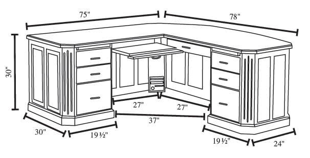 Fifth Avenue Executive L Desk