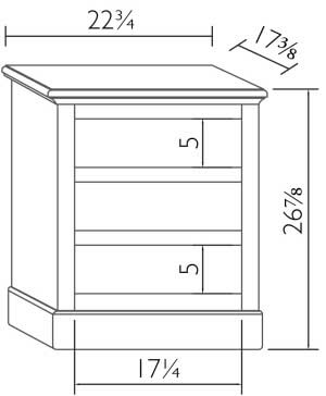 Delighful Night Stand Dimensions A For Decorating Ideas