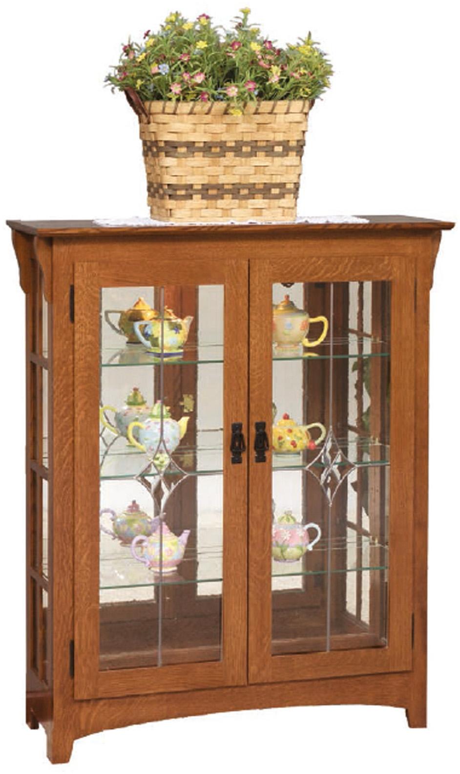 Small Mission Curio Cabinet